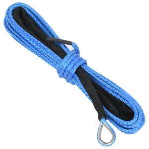 Corda de guincho azul 5 mm x 9 m - PORTES GRÁTIS