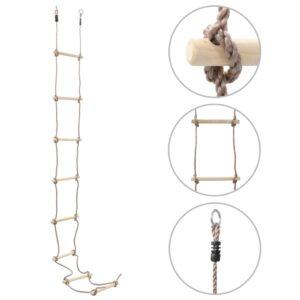 Escada de corda infantil 290 cm madeira - PORTES GRÁTIS