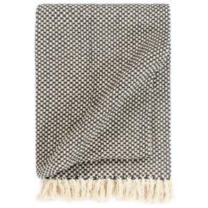 Manta em algodão 160x210 cm antracite  - PORTES GRÁTIS