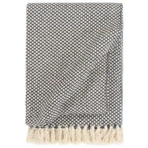 Manta em algodão 160x210 cm azul-marinho - PORTES GRÁTIS