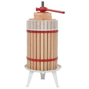 Prensa para fruta e vinho com saco de pano 24 L carvalho - PORTES GRÁTIS