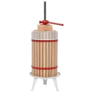 Prensa para fruta e vinho com saco de pano 30 L carvalho - PORTES GRÁTIS