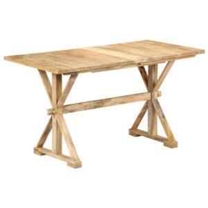 Mesa de jantar 118x58x76 cm madeira de mangueira maciça  - PORTES GRÁTIS