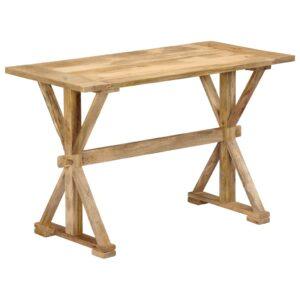 Mesa de jantar 140x70x76 cm madeira de mangueira maciça  - PORTES GRÁTIS