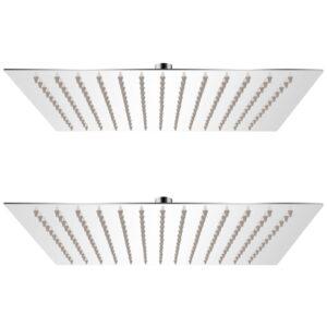 Cabeça de chuveiro 2 pcs aço inoxidável 25x25 cm - PORTES GRÁTIS