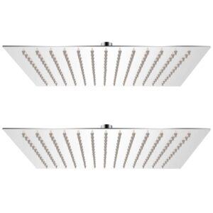 Cabeça de chuveiro 2 pcs aço inoxidável 30x30 cm - PORTES GRÁTIS