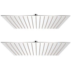 Cabeça de chuveiro 2 pcs aço inoxidável 40x40 cm - PORTES GRÁTIS