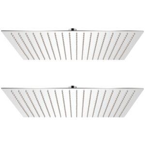 Cabeça de chuveiro 2 pcs aço inoxidável 50x50 cm - PORTES GRÁTIS