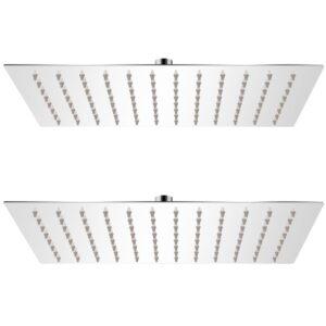 Cabeça de chuveiro 2 pcs aço inoxidável 20x30 cm  - PORTES GRÁTIS