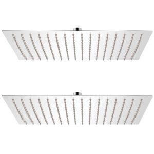 Cabeça de chuveiro 2 pcs aço inoxidável 30x40 cm - PORTES GRÁTIS