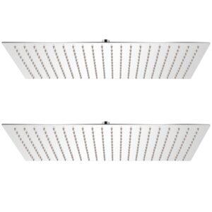 Cabeça de chuveiro 2 pcs aço inoxidável 30x50 cm - PORTES GRÁTIS