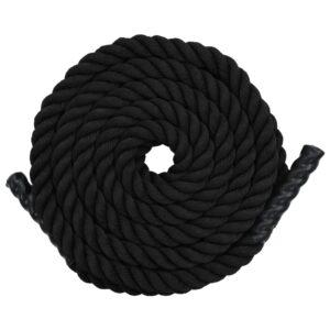 Corda ondulatória 12 m poliéster preto  - PORTES GRÁTIS