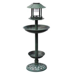 Banho do pássaro / alimentador com luz solar - PORTES GRÁTIS