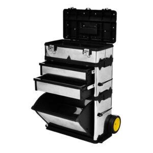 Armário móvel para ferramentas metálico de 3 partes - PORTES GRÁTIS