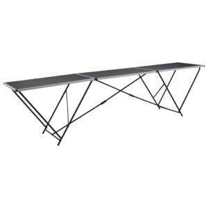 Mesa/bancada de trabalho dobrável MDF e alumínio 300x60x78 cm - PORTES GRÁTIS
