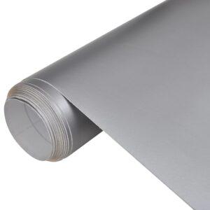 Película de carro, em prata mate, impermeável, sem bolhas 200 x 152 cm - PORTES GRÁTIS