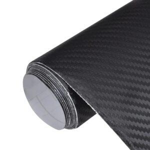 Película de carro, fibra de carbono 3D, em preto 152 x 200 cm - PORTES GRÁTIS