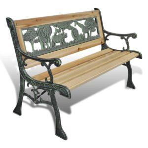 Banco de jardim para crianças 80 cm madeira - PORTES GRÁTIS