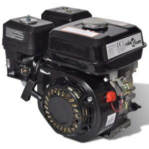 Motor a gasolina preto 4,8 kW  6,5 CV - PORTES GRÁTIS
