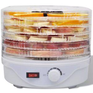 Desidratador alimentos com 6 bandejas empilháveis (redondo) - PORTES GRÁTIS