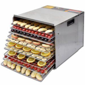 Desidratador de Alimentos com 10 Bandejas - Aço Inoxidável - PORTES GRÁTIS