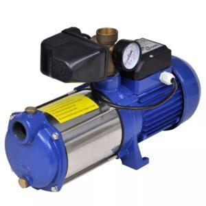Bomba de jato com manómetro 1300 W 5100 L/h azul - PORTES GRÁTIS