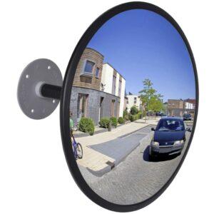Espelho retrovisor interior convexo em acrílico 30 cm- preto - PORTES GRÁTIS