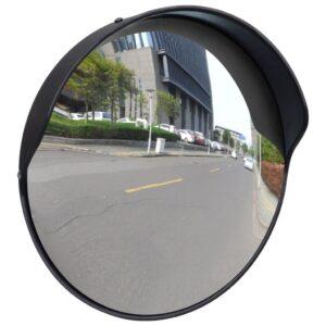 Espelho retrovisor convexo em plástico PC - preto 30 cm - PORTES GRÁTIS