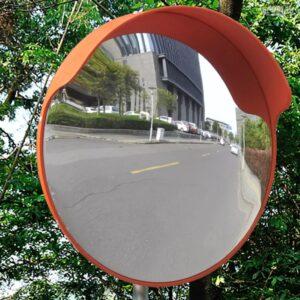 Espelho retrovisor convexo em plástico PC, laranja 45 cm - PORTES GRÁTIS