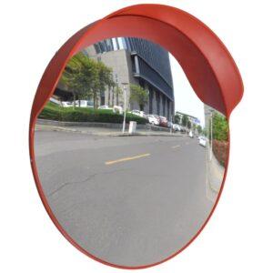 Espelho retrovisor convexo em plástico PC - laranja 60 cm - PORTES GRÁTIS
