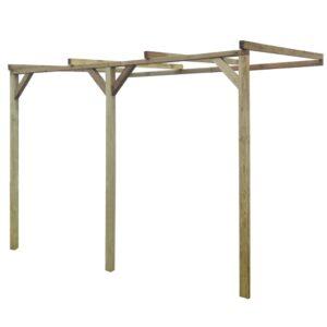 Pérgola inclinada 2x3x2,2 m madeira FSC - PORTES GRÁTIS