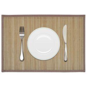 Individuais de mesa em bambu 6 pcs 30 x 45 cm castanho - PORTES GRÁTIS