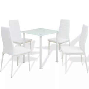 Conjunto mesa de jantar e cadeiras 5 pcs branco - PORTES GRÁTIS