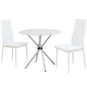 Conjunto mesa de jantar e cadeiras 3 pcs - PORTES GRÁTIS