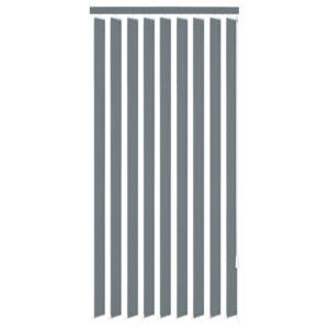 Estores verticais 120 x 180 cm tecido cinzento - PORTES GRÁTIS