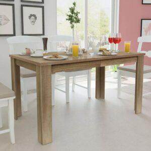 Mesa de jantar 140x80x75 cm carvalho - PORTES GRÁTIS
