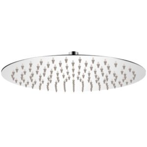 Cabeça de chuveiro redonda em aço inoxidável 30 cm - PORTES GRÁTIS