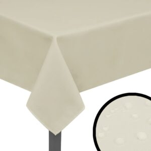 5 Toalhas de mesa 190x130 cm creme - PORTES GRÁTIS