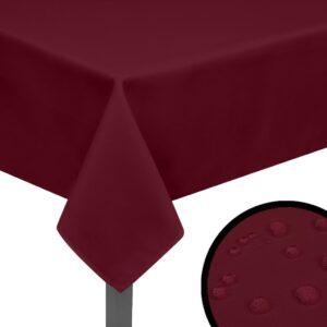 5 Toalhas de mesa 100x100 cm borgonha - PORTES GRÁTIS