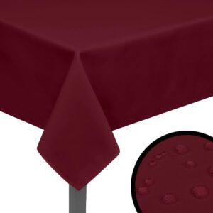 5 Toalhas de mesa  220x130 cm borgonha  - PORTES GRÁTIS
