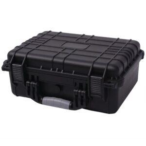 Caixa de equipamento protetora 40,6x33x17,4 cm preto - PORTES GRÁTIS