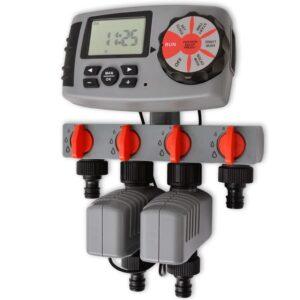 42352 Temporizador Automático de Irrigação com 4 Estações 3 V - PORTES GRÁTIS