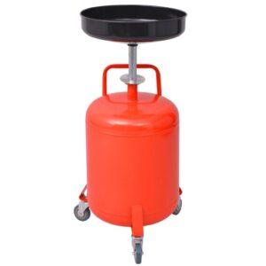 Escorredor de óleo residual 49,5 L aço vermelho   - PORTES GRÁTIS