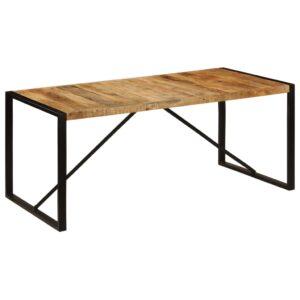 Mesa de jantar 180x90x75 cm madeira de magueira maciça - PORTES GRÁTIS