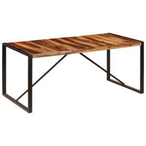 Mesa de jantar 180x90x75 cm madeira de sheesham maciça - PORTES GRÁTIS