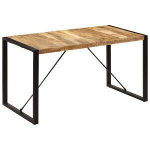 Mesa de jantar 140x70x75 cm madeira de mangueira maciça - PORTES GRÁTIS