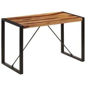 Mesa de jantar 120x60x76 cm madeira de sheesham maciça - PORTES GRÁTIS