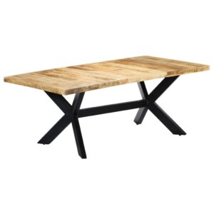 Mesa de jantar 200x100x75 cm madeira de mangueira maciça  - PORTES GRÁTIS