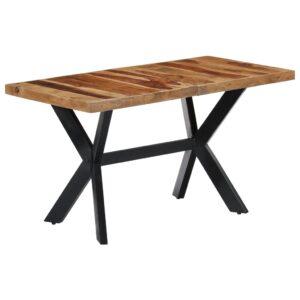 Mesa de jantar 140x70x75 cm madeira de sheesham maciça - PORTES GRÁTIS