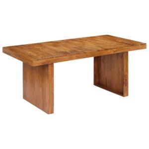 Mesa de jantar 180x90x75 cm madeira de acácia maciça - PORTES GRÁTIS